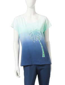 Hearts of Palm Navy Shirts & Blouses