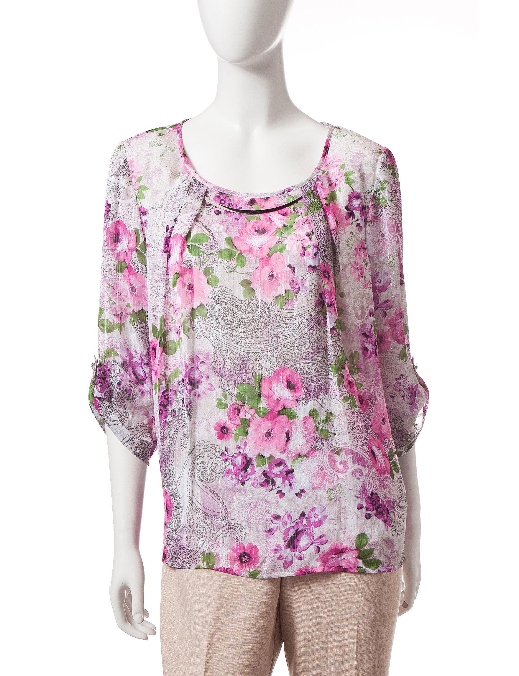 Rebecca Malone Pink / Black Shirts & Blouses