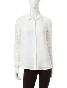 ABS by Allen Schwartz White Shirts & Blouses