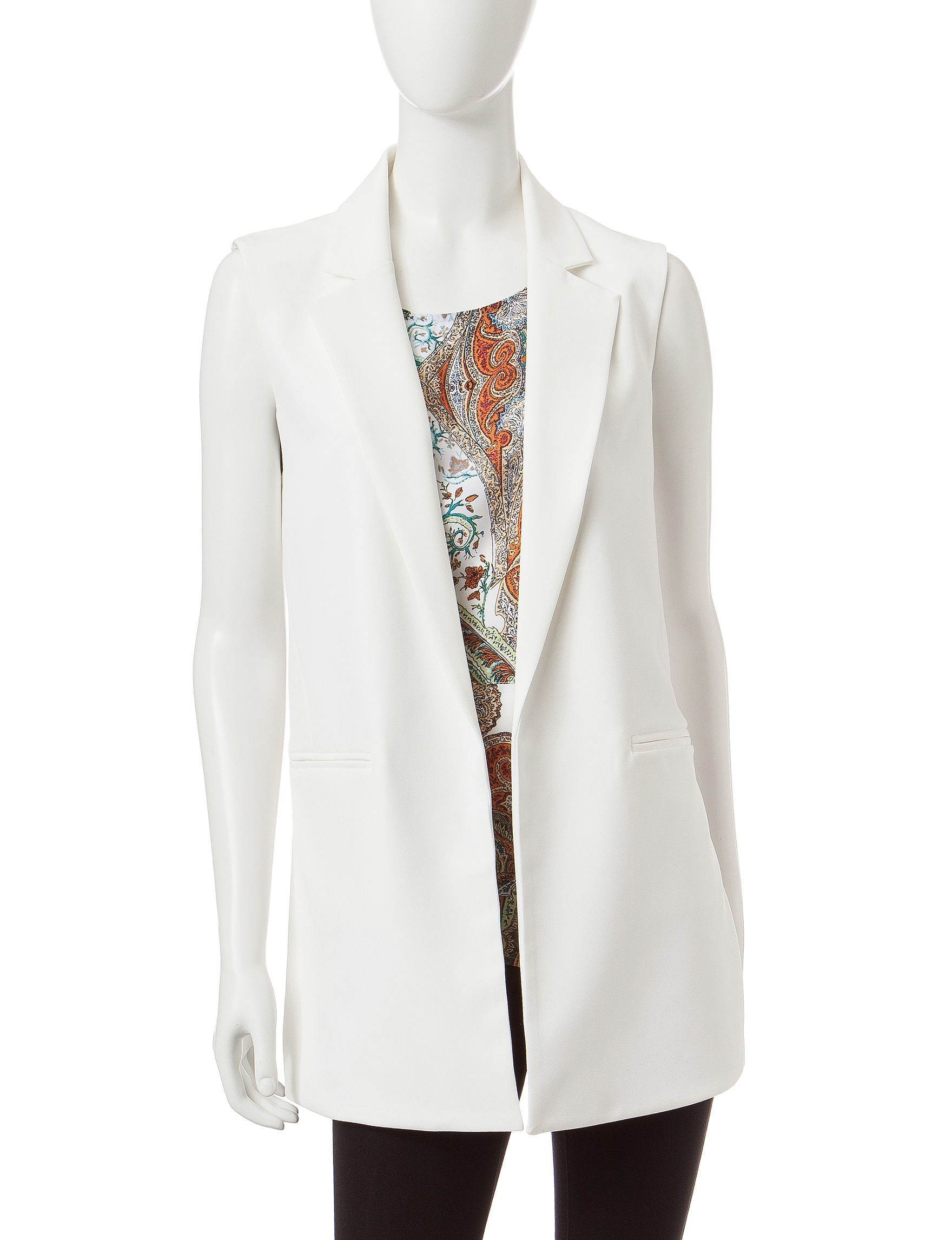 ABS by Allen Schwartz White Lightweight Jackets & Blazers