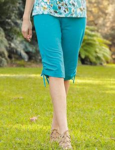 Rebecca Malone Green Capris & Crops