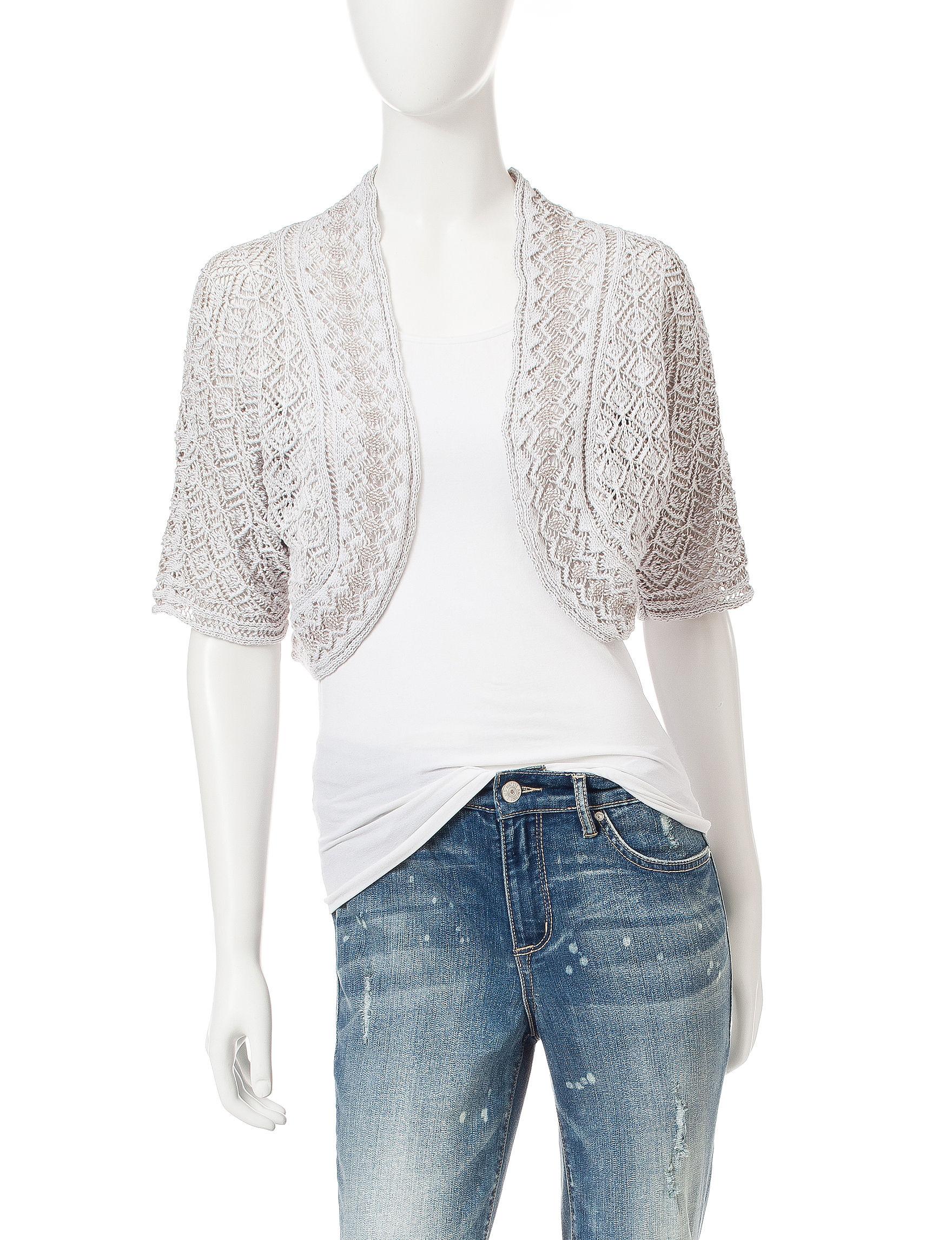 Jeanne Pierre Brown Cardigans Sweaters
