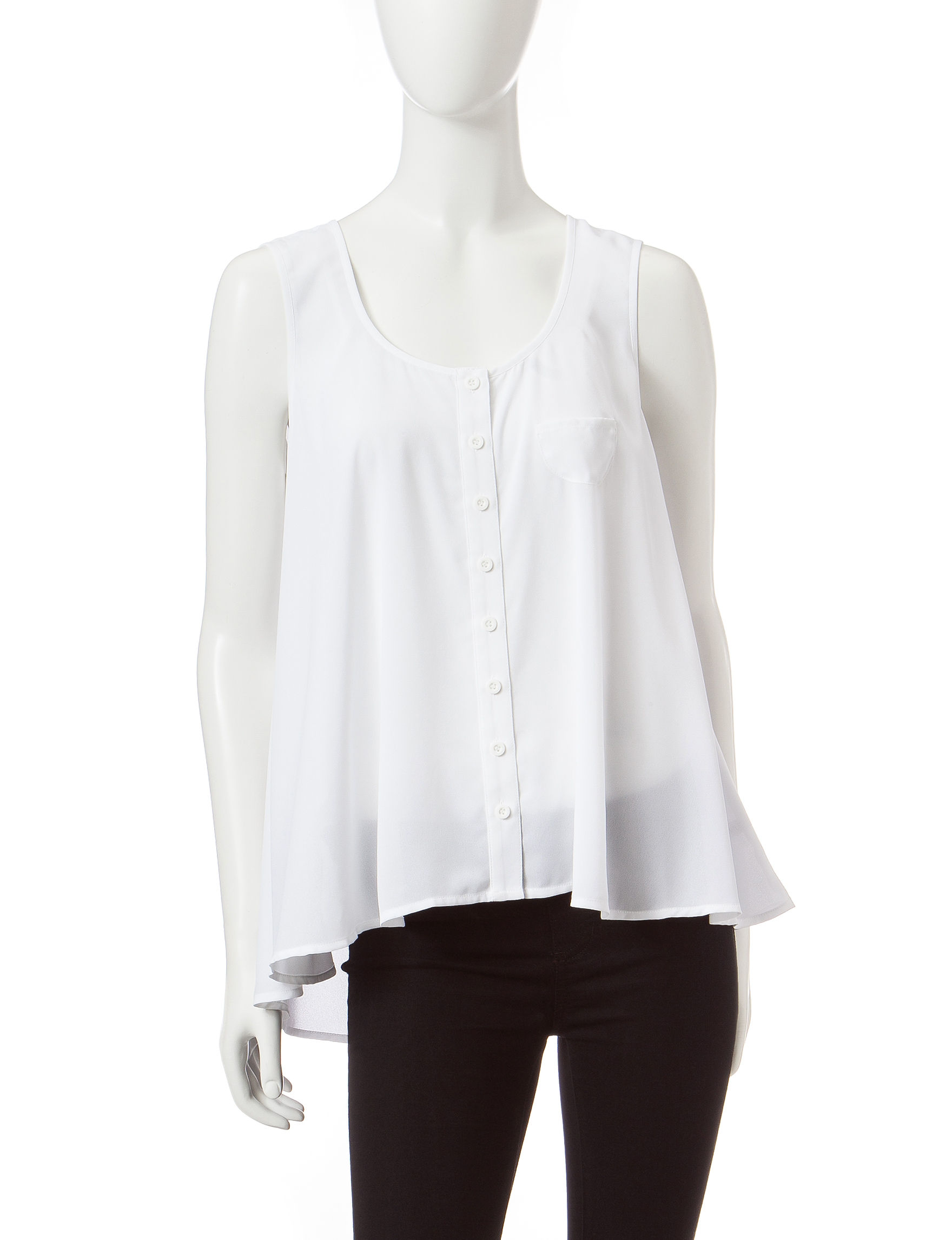 Valerie Stevens White Casual Button Down Shirts