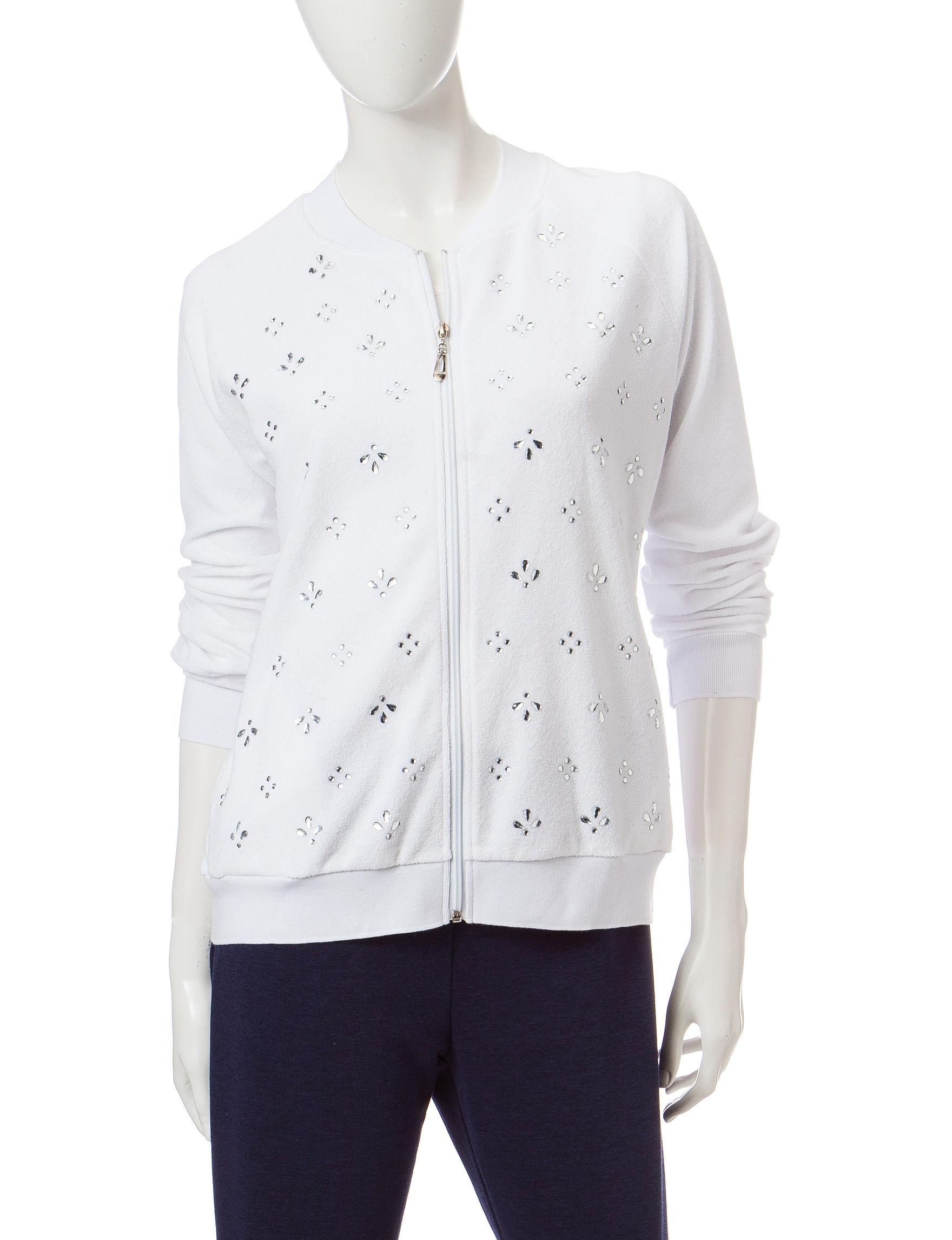 Cathy Daniels White Lightweight Jackets & Blazers