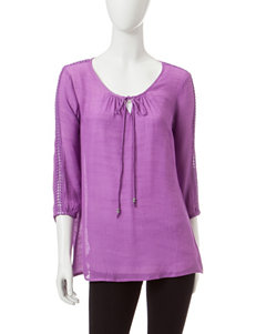 New Direction Pink Shirts & Blouses