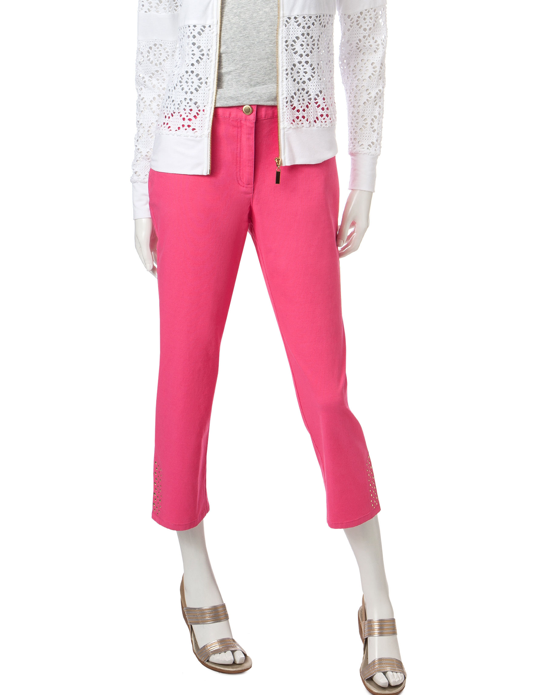 Hearts of Palm Pink Capris & Crops