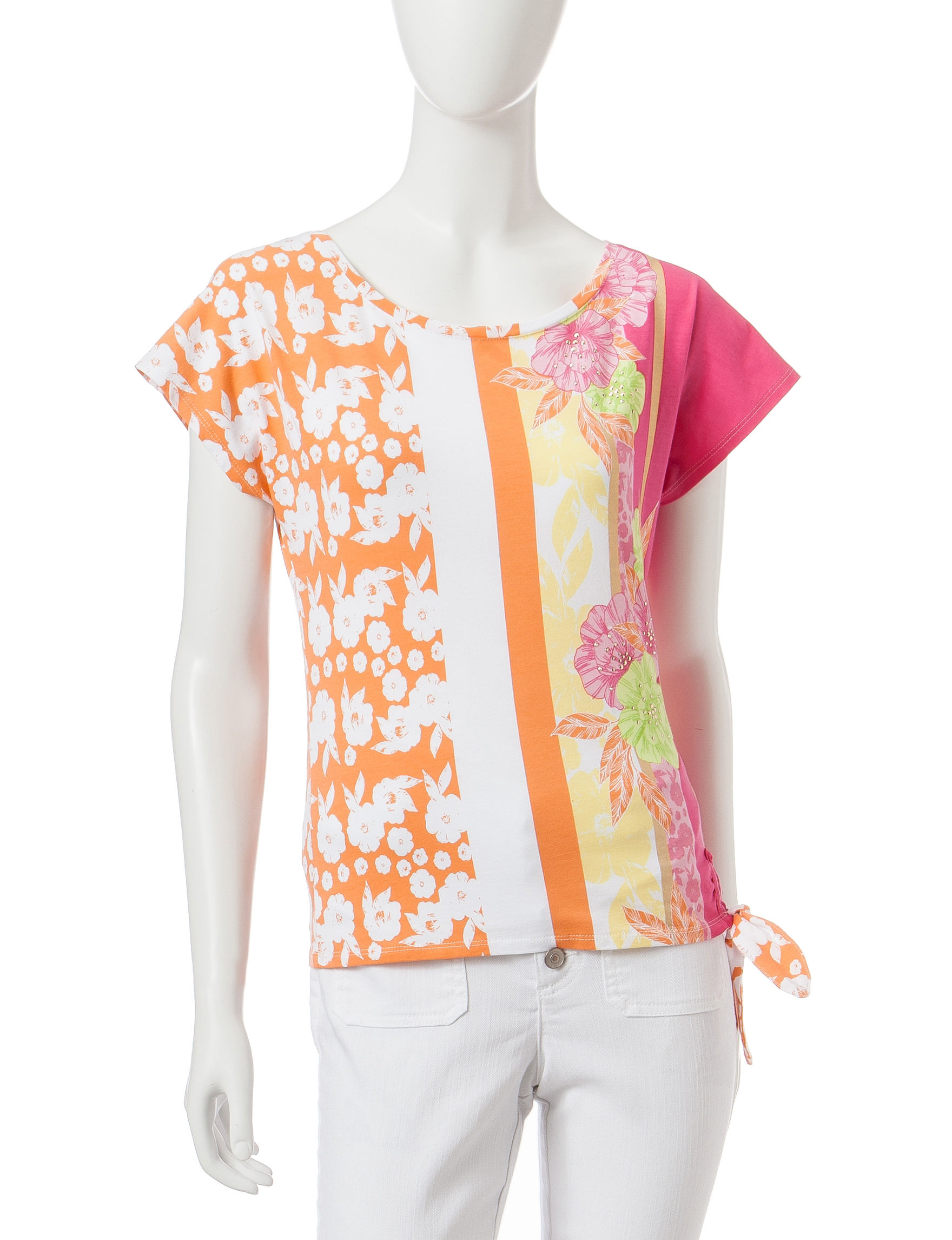 Hearts of Palm Orange Shirts & Blouses