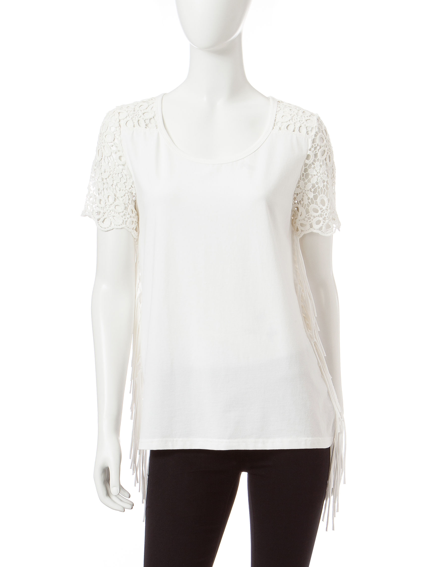 Skyes The Limit White Shirts & Blouses