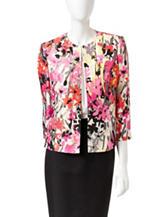 Kasper Abstract Floral Jacket