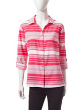 Notations Striped Print Utility Top