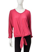 Zac & Rachel Tie Front Knit Top