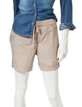 Gloria Vanderbilt Solid Color Poplin Shorts