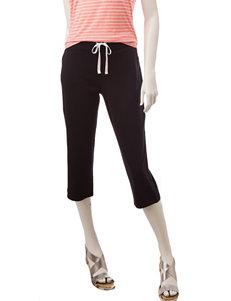 Silverwear Black Capris & Crops