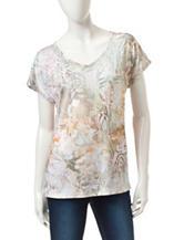 Gloria Vanderbilt Opal Exotic Print Tunic Top