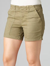 Democracy Solid Color Olive Utility Shorts