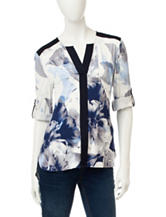 Calvin Klein Abstract Floral Print Tunic Top