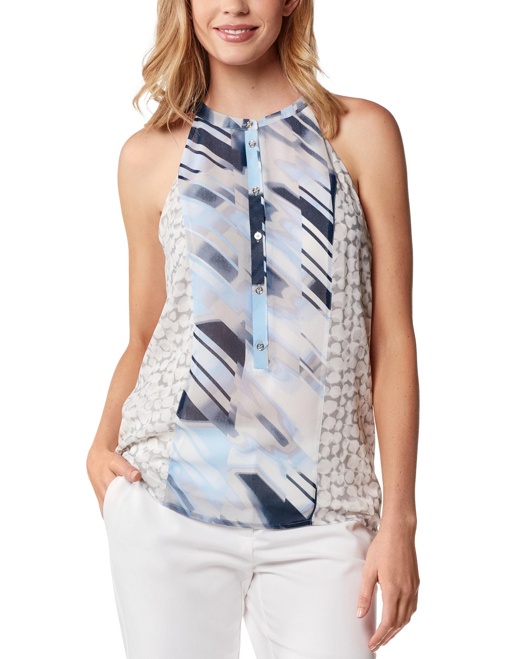 Calvin Klein Grey Multi Shirts & Blouses