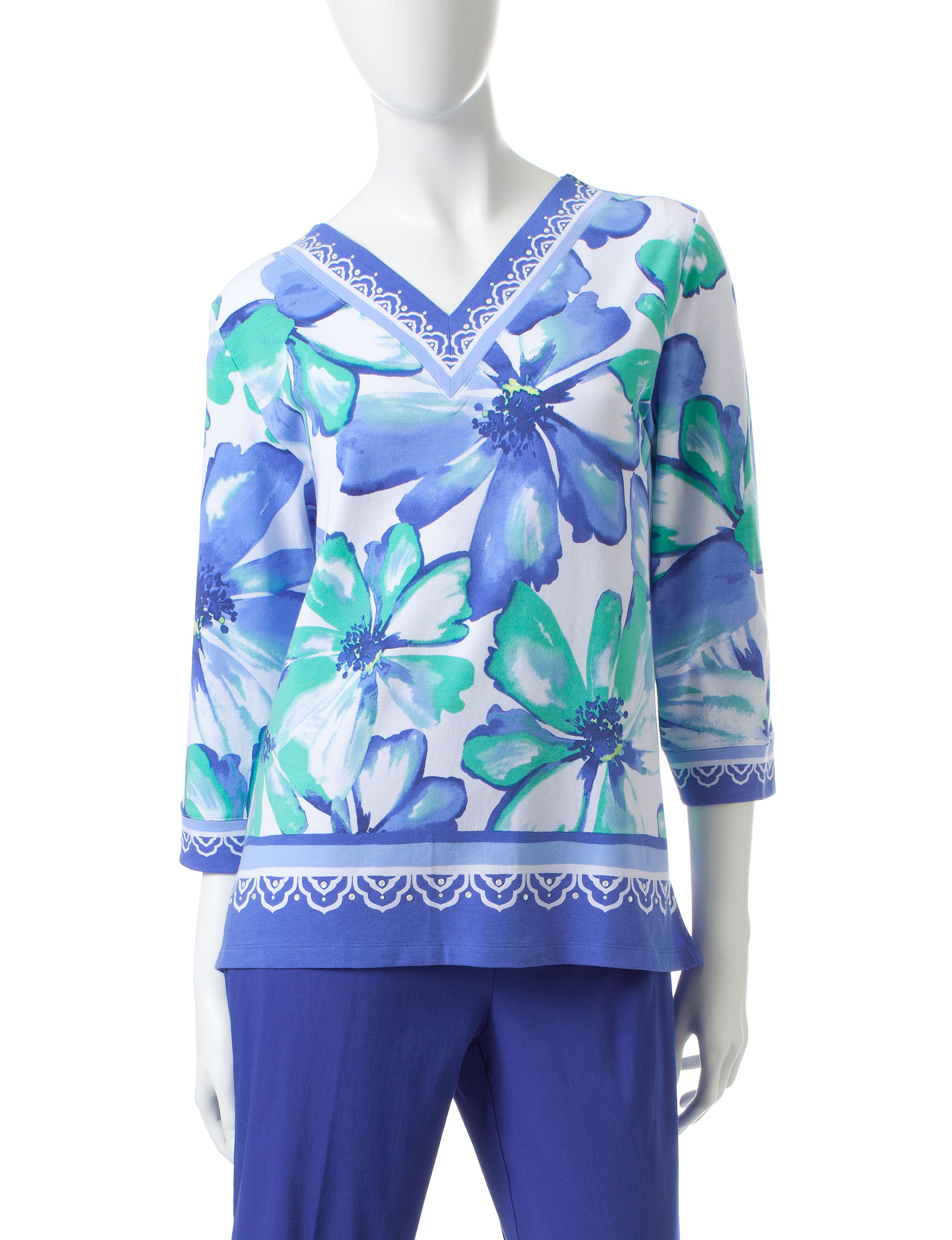 Alfred Dunner Blue Tees & Tanks