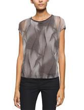 Calvin Klein Jeans Tonal Geometric Print Top