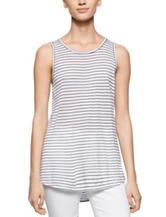 Calvin Klein Black & White Striped Tank Top