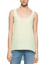 Calvin Klein Jeans Solid Color Hi-Lo Tank Top