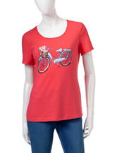 Rebecca Malone Embellished Bike Ride Knit Top