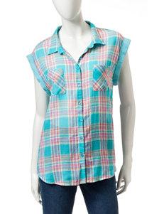 Bandolino Heather Blue Shirts & Blouses
