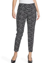 Chaus Courtney Black & White Confetti Print Cropped Pants