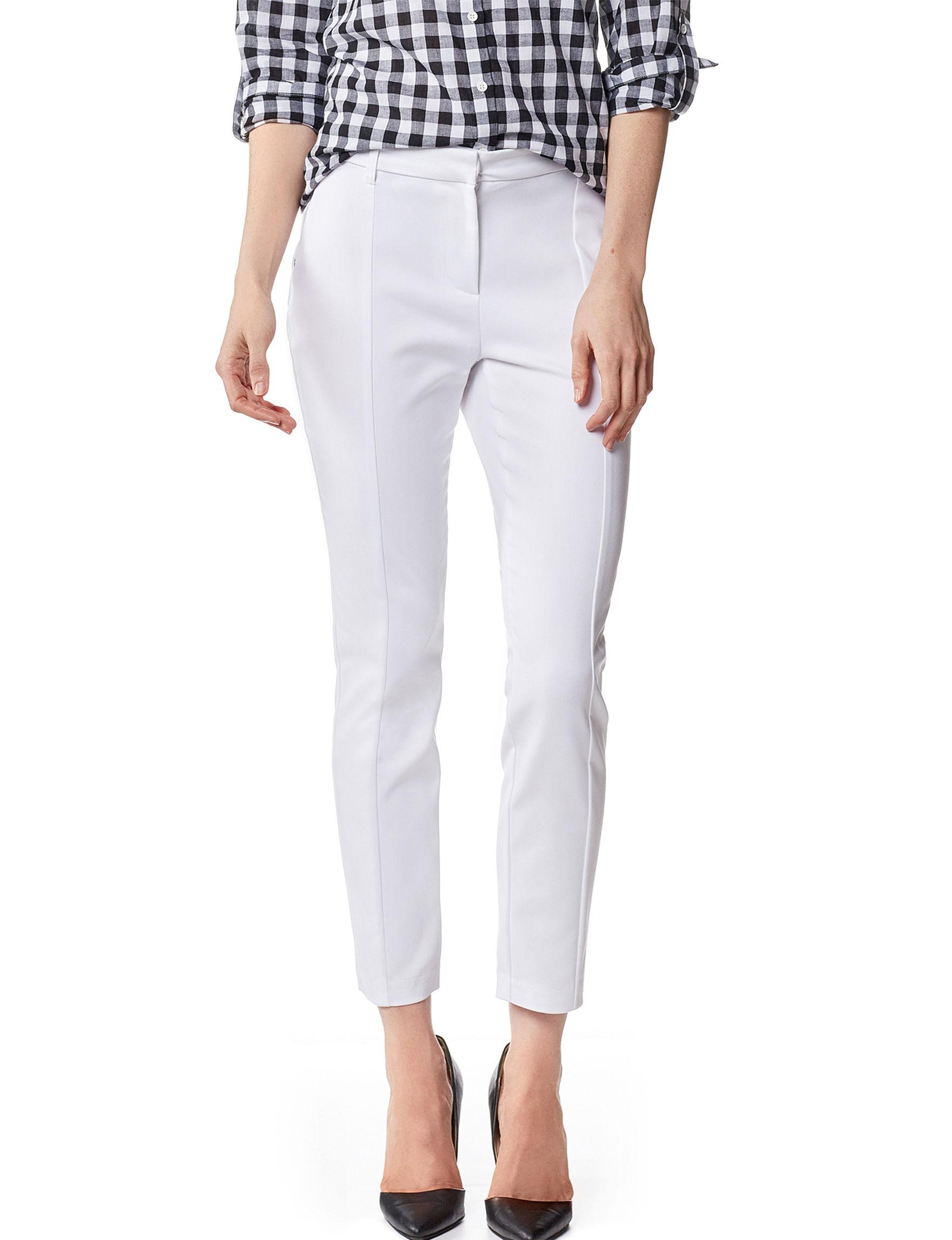ABS by Allen Schwartz White Soft Pants