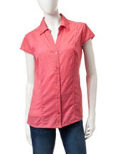 Hannah Solid Color Swiss Dot Top