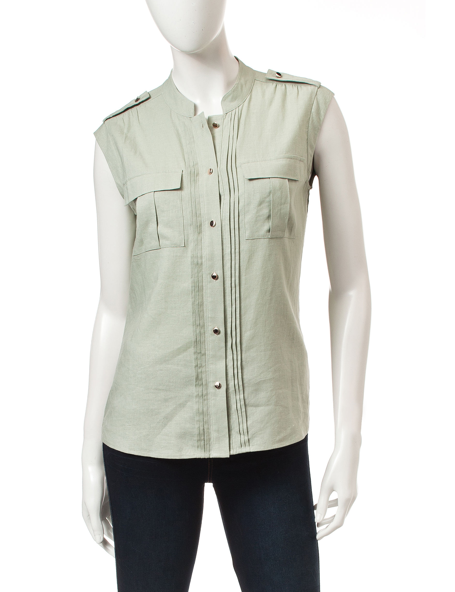 Nine West Jeans Green Shirts & Blouses