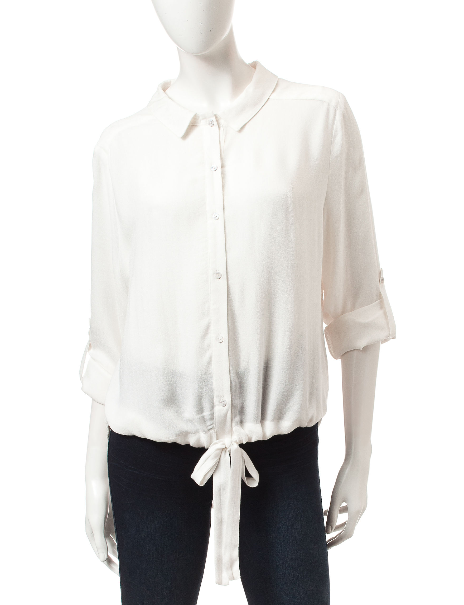 Nine West Jeans Cream Shirts & Blouses