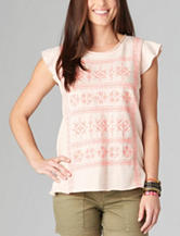 Democracy Fair Isle Embroidered Terry Top