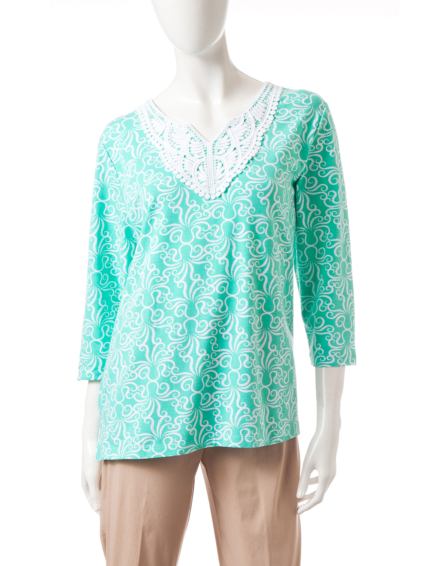 Alfred Dunner Mint Tees & Tanks