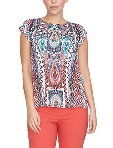 Chaus Multicolor Tribal Inspired Print Top