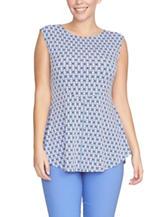 Chaus Geometric Print Knit Top