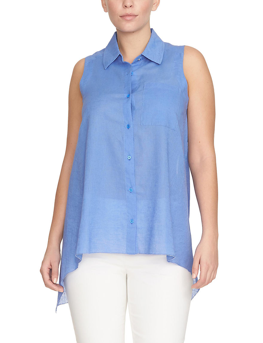 Chaus Periwinkle Shirts & Blouses