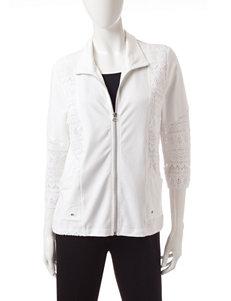 Onque Casuals White Lightweight Jackets & Blazers