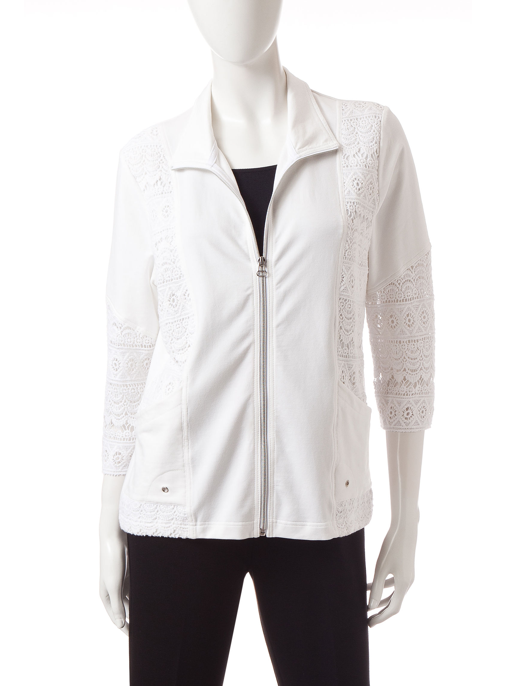 Onque Casuals White Lightweight Jackets & Blazers