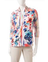 Onque Casuals Multicolor Tropical Print Jacket
