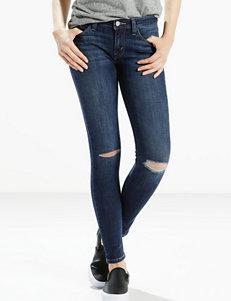 Levis 535 Super Skinny Distressed Dark Wash Leggings