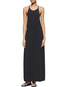 Calvin Klein Jeans Black Crochet Maxi Dress