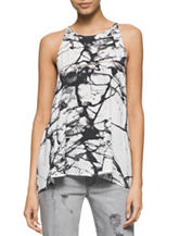 Calvin Klein Jeans Black & White Storm Print Top