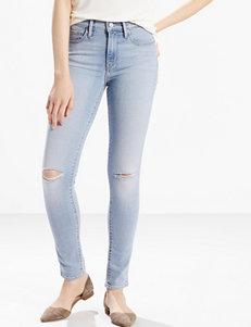 Levi's® Distressed Light Wash Slimming Skinny Jeans