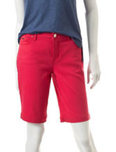 Nine West Jeans Red Gramercy Bermuda Shorts