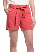 Vintage America Blues Coral Linen Shorts