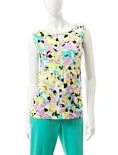 Rafaella Floral Print Knit Top