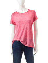 Hannah Mineral Washed Lace Accent Top