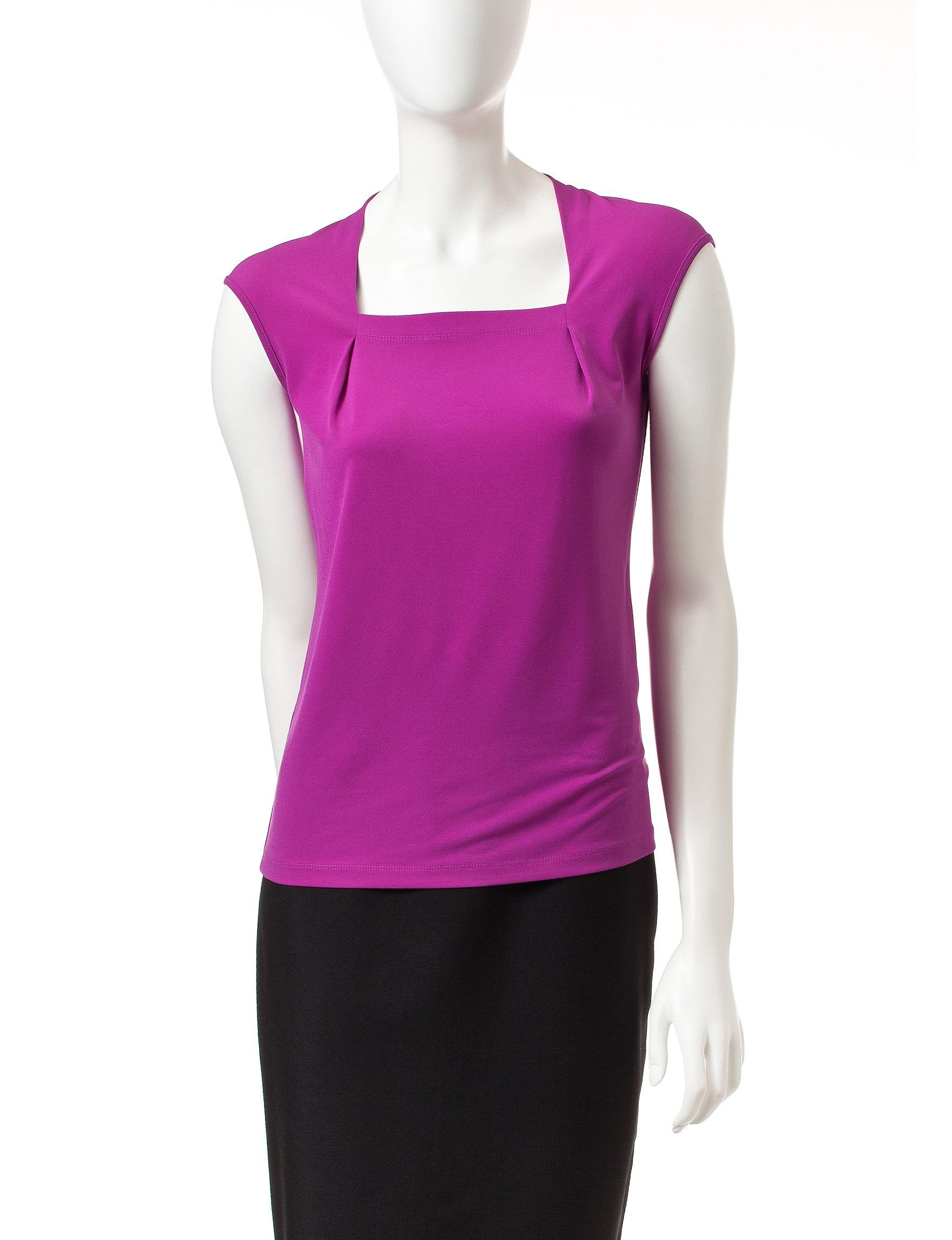 Kasper Purple Shirts & Blouses