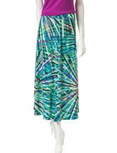 Kasper Multicolor Wispy Print Midi Skirt
